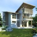 แบบบ้าน Modern แบบบ้านประหยัดพลังงาน ของ กทม type2 (แจกแบบบ้านฟรี)