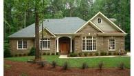 แจกแบบบ้าน บ้านหนึ่งชั้น บ้านหลังน้อยที่ดูอบอุ่นในป่าใหญ่ แจกแบบบ้านฟรี