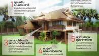 """5 เหตุผลว่าทำไมต้องเป็นบ้านทรงไทยประยุกต์    สวัสดีครับเพื่อนๆ ทุกคน เคยสงสัยกันไหมว่าที่คนทั่วไปมักจะมีคำถามและกล่าวถึง """"ทำไมต้องสร้างบ้านทรงไทยประยุกต์.. มันทำยากราคาแพง?"""" แต่เมื่อเหตุผลและความชื่นชอบถึงขั้นที่เรียกได้ว่า หลงไหลในเสน่ห์ของบ้านทรงไทยประยุกต์กันเลย ก็เลยต้องมาหาคำตอบให้ได้ว่าบ้านทรงไทยประยุกต์ดีอย่างไร  โดยส่วนตัว ผมชอบความสวยงาม เป็นเอกลักษณ์ ของไทย ฤดูร้อนไม่ร้อนมากเพราะหน้าต่างเยอะผนังไม้ไม่นำความร้อน หลังคาทรงสูงช่วยระบายความร้อน ฤดูหนาวไม่หนาวมากเพราะผนังไม้ไม่นำความเย็น ฤดูฝนไม่ชื้นมากเพราะดูดชึมน้ำน้อยกว่าผนังคอนกรีต บ้านทรงไทยอยู่สบายทั้ง 3 ฤดูของบ้านเรา เหมาะกับทุกยุคไม่ตกเทรนด์แน่นอนครับ"""